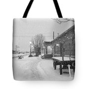 Prosser Winter Train Station  Tote Bag