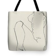 Prostrate Female Nude Tote Bag