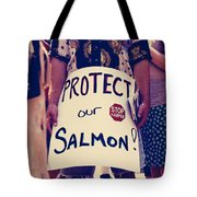 Protect Our Salmon Tote Bag
