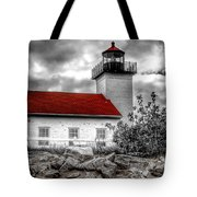 Protector Of The Harbor - Sand Point Lighthouse Tote Bag