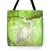 Proud Egret Tote Bag