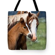 Proud Mommy Tote Bag by Michael Chatt