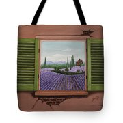Provence Lavander Fields Original Acrylic Tote Bag