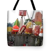 Provencetown Lobster Buoys Tote Bag