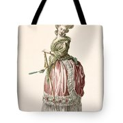 Provencial Style Ladys Walking Gown Tote Bag