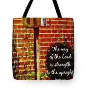 Proverbs 10 29 Tote Bag