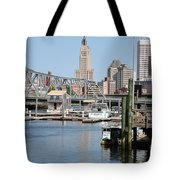 Providence River And Point St Bridge Tote Bag
