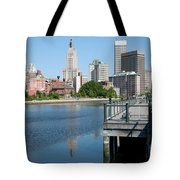 Providence Skyline And Riverfront Tote Bag