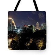 Providence Skyline At Dusk Tote Bag