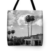 Ps City Hall Front Bw Palm Springs Tote Bag