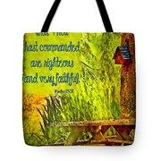 Psalm 119 138 Tote Bag