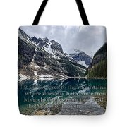 Psalm 121 With Mountains Tote Bag