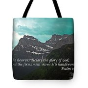 Psalm 19 1 On The Rocky Mountains Tote Bag