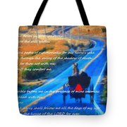 Psalm 23 Country Roads Tote Bag