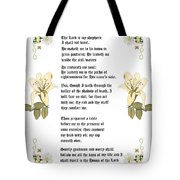 Psalm 23 From The Holy Bible Tote Bag