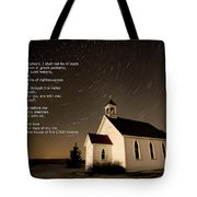 Psalm 23 Night Photography Star Trails Tote Bag