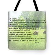 Psalm 23 The Lord Is My Shepherd Tote Bag