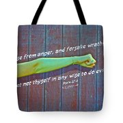 Psalm 37 8 Tote Bag
