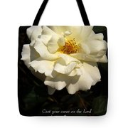 Psalm 55 22 Tote Bag by Sara  Raber