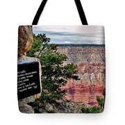 Psalm 68 - Grand Canyon Tote Bag