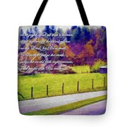 Psalm 96 12 13 Tote Bag by Michelle Greene Wheeler