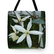 Psalm Eighteen Two White Clematis Tote Bag