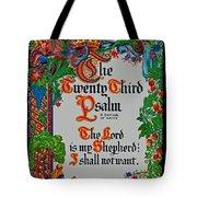 Psalms 23-1 Tote Bag