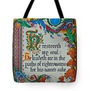 Psalms 23-3 Tote Bag
