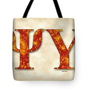 Psi Upsilon - Parchment Tote Bag