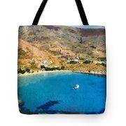 Psili Ammos Beach In Serifos Island Tote Bag