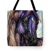 Psychedelic Blue And Orange Tote Bag