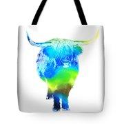 Psychedelic Bovine #2 Tote Bag by Pixel  Chimp