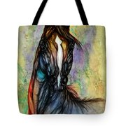 Psychedelic Brown And Blue Tote Bag