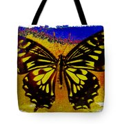 Psychedelic Butterfly Tote Bag