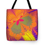 Psychedelic Butterfly Explosion Fractal 61 Tote Bag
