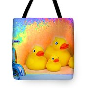 Psychedelic Ducks And Faucet Tote Bag