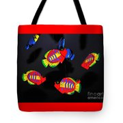 Psychedelic Flying Fish Tote Bag by Kaye Menner