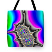 Psychedelic Fractal Art With Bold Wild And Crazy Colors Tote Bag