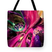 Psychedelic Fun House Abstract Tote Bag