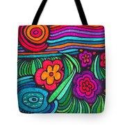 Psychedelic Garden Tote Bag