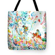 Psychedelic Goddess With Toads Tote Bag