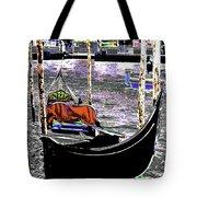Psychedelic Gondola Venice Tote Bag
