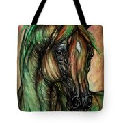 Psychedelic Green And Pink Tote Bag