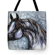 Psychedelic Grey And Blue Tote Bag