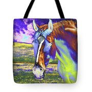 Psychedelic Horse Tote Bag