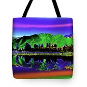 Psychedelic Lake Matheson Ner Zealand 3 Tote Bag