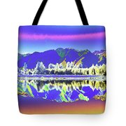 Psychedelic Lake Matheson New Zealand 2 Tote Bag