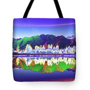 Psychedelic Lake Matheson New Zealand Tote Bag