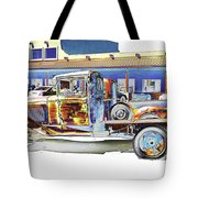 Psychedelic Old Pickup Truck Tote Bag