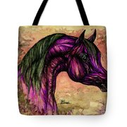 Psychedelic Purple Tote Bag